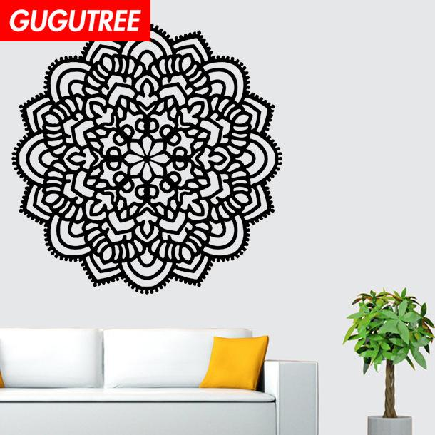 Decorate Home India Buddhism mandala flower art wall sticker decoration Decals mural painting Removable Decor Wallpaper G-1083