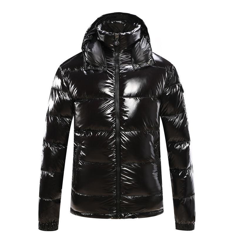 Vendita calda di modo del Mens del cappotto incappucciato di inverno di autunno Windbreaker cappotto Giù Spesso cappuccio Outwear luminosi giacche da uomo Down Jacket
