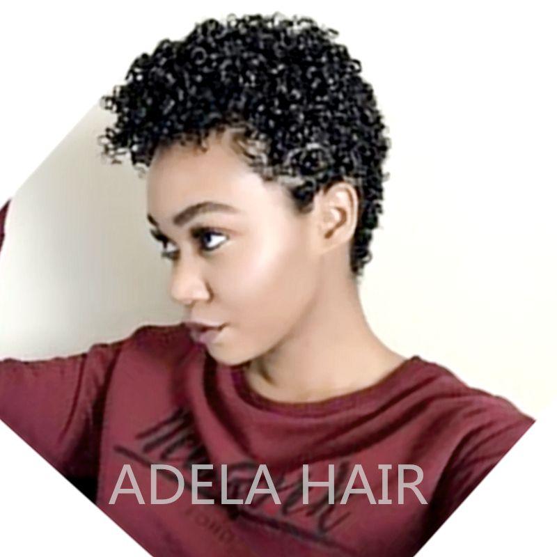 Brezilyalı bakire saç dantel ön peruk kısa bob Pixie Cut İnsan saç tutkalsız tam dantel İnsan saç peruk siyah kadınlar için