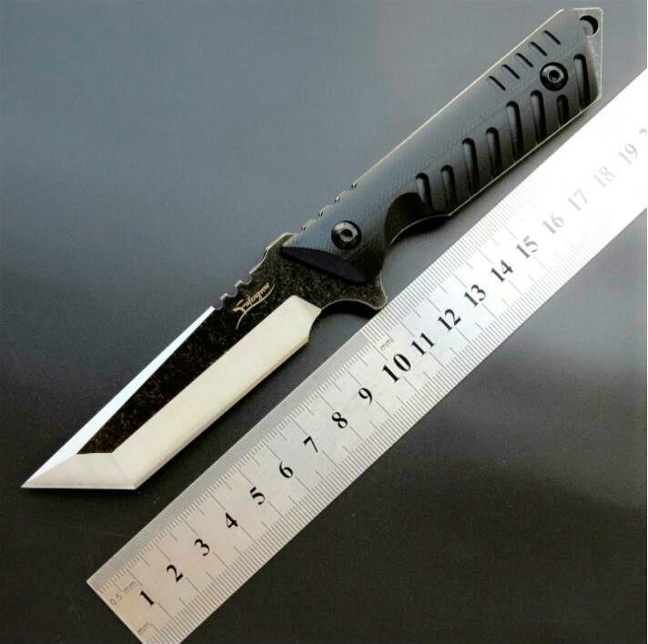 eafengrow EF105 440C G10 poignée couteau droit de survie pliant Camping survie Couteau cadeau Plein Air