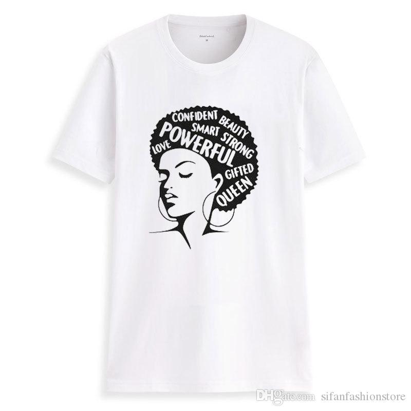 Septhydrogen 브랜드 레이디 셔츠 여성 페미니스트 티 여성 파워 t- 셔츠 여름 패션 짧은 소매 영감 단어 문자 인쇄면 톱