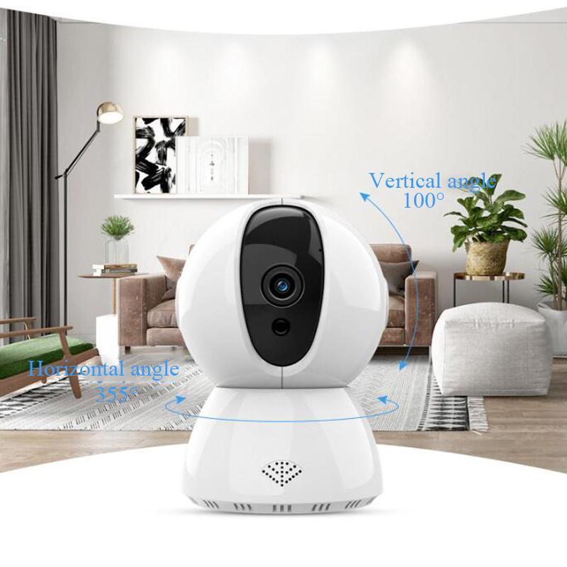 Bebek Monitörü 720P 1080P Ev Güvenlik Kablosuz Kamera Ev Akıllı WiFi Uzaktan Ağ Gözetleme Kamerası 360 HD Kızılötesi Monitör