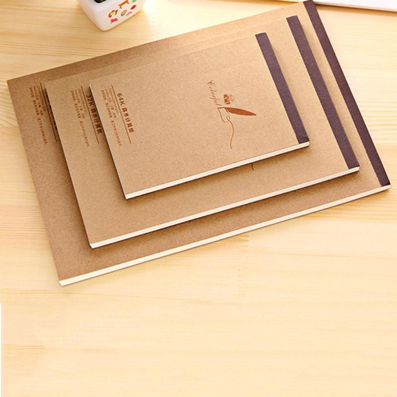 Sketchbook Painting Graffiti Journal Notebook Blank Drawing Notepad Kraft Cover Daily Memo Pad Office School Supplies Stationery DBC DH1493