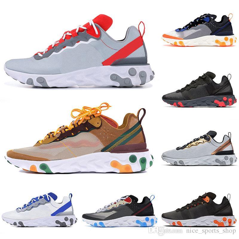Air Nike Epic React Element 87 55 Undercover orange Hommes Peler Chaussures de course cacatois Tint Anthracite Baskets Chaussures Femmes