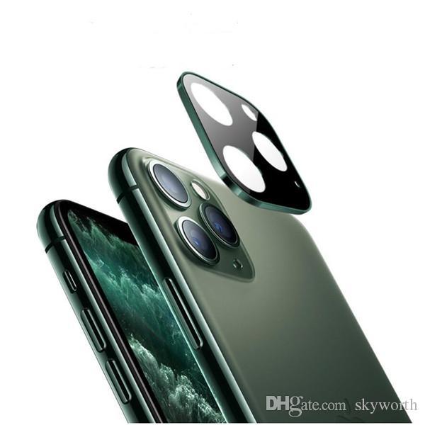 Metallica posteriore Camera Lens completa coveraged protezione dello schermo di vetro temperato per iPhone 11 pro max Samsung Galaxy Note 10 S10 Ultra Thin 9H
