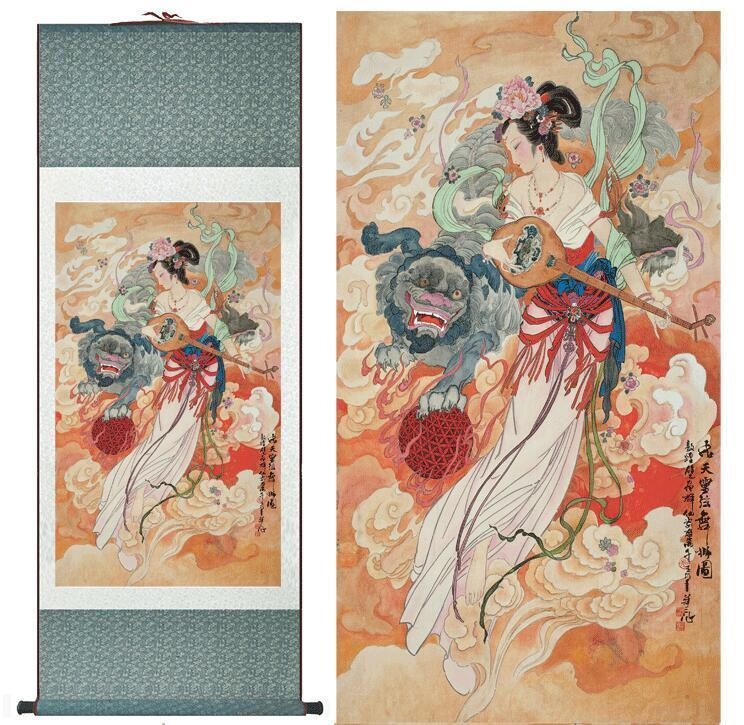 Traditional Chinese Pretty Girls Painting Home Office Decoration Beautifull Women Painting Fair Painting