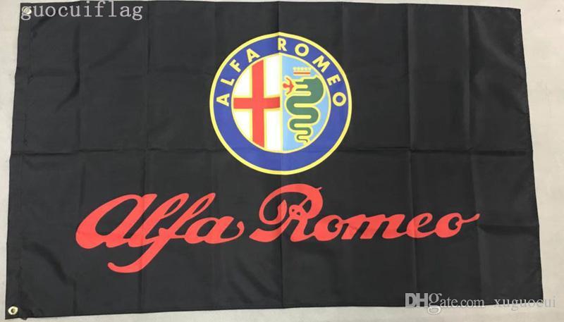 ALFA ROMEO Flag, 3x 5ft Poliéster, envío gratis ALFA ROMEO banner
