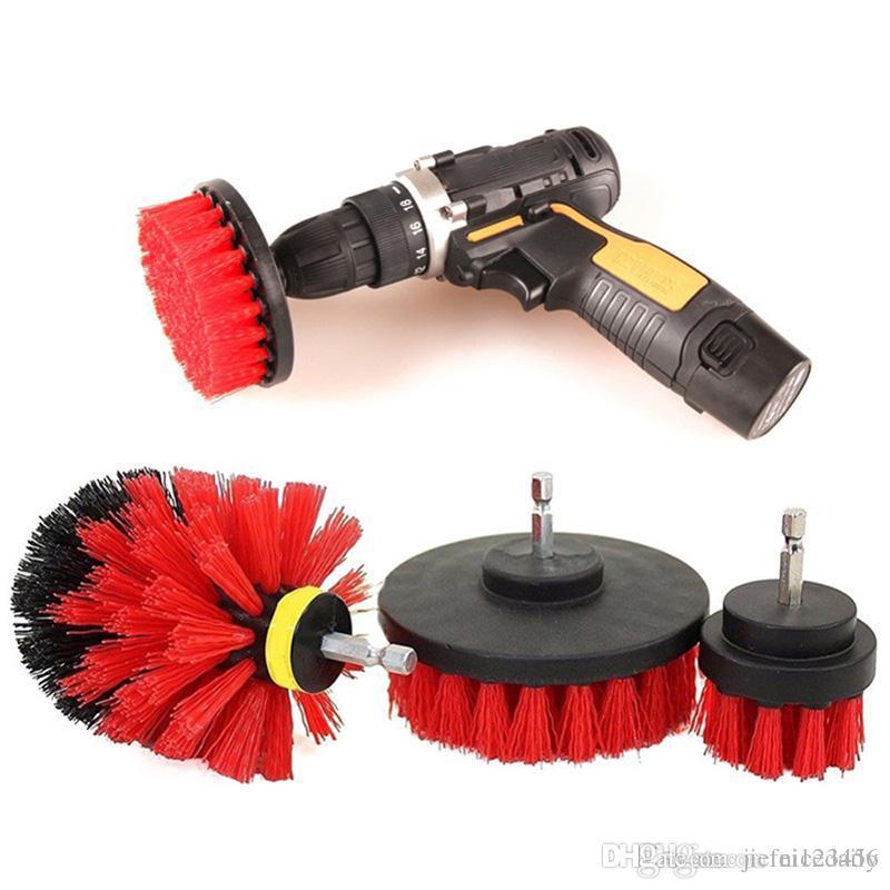 3 piece set electric drill brush kitchen floor tire bathroom floor bathtub shower tile floor electric scrub brush cleaning tool