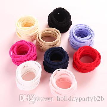 Hohe Elastizität Nylon Haarbänder Frauen Spiral-Haar-Riegel-Haar-Ringe Rope Solid Color Haarschmuck Gum Scrunchy