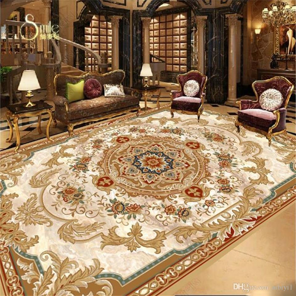 custom size PVC floor mural wallpaper 3d photo waterproof sticker living room European Stone Patterns 3d floor home decor picture wallpaper