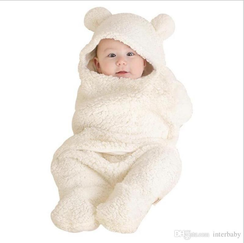 best service 262fd 915ef Coral Fleece Split Swaddling Toddler Stroller Cart Swaddle Newborn Sleeping  Bags Warm Blankets Winter Wraps Bedding Sleep Sack 0 1T YL784 Boys ...