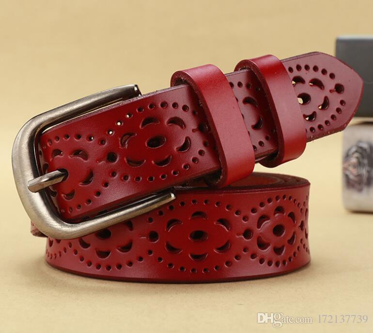 Hot style rétro coréen fabricants de ceinture en cuir boucle boucle aiguille vente directe dame jeans avec ceinture