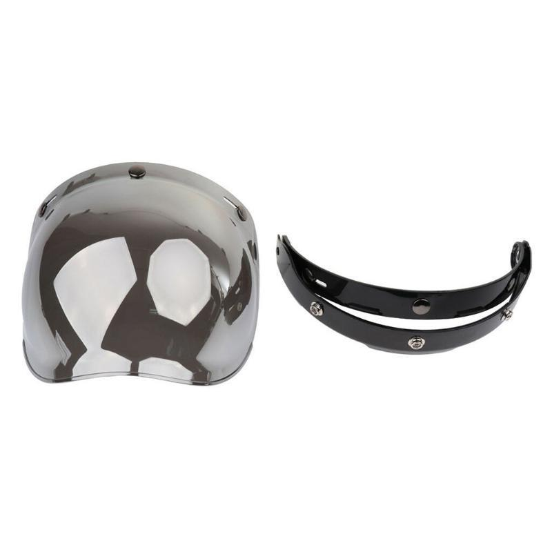 Casque de moto 3 Protection UV snap Open Face résistant aux rayures de pare-brise avec support Bubble Visor Riding Flip Up antipoussière