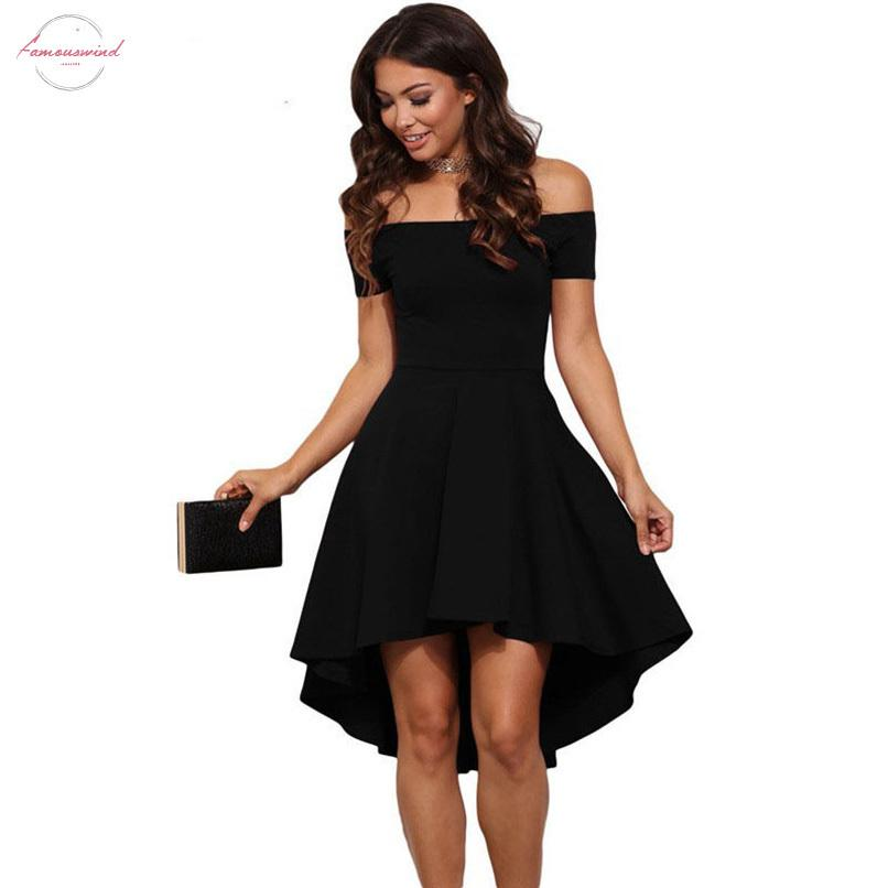 Hot Women Elegant Summer Casual Off Shoulder Sexy Ladies Party Evening Short Polyester Dress Drop Shipping