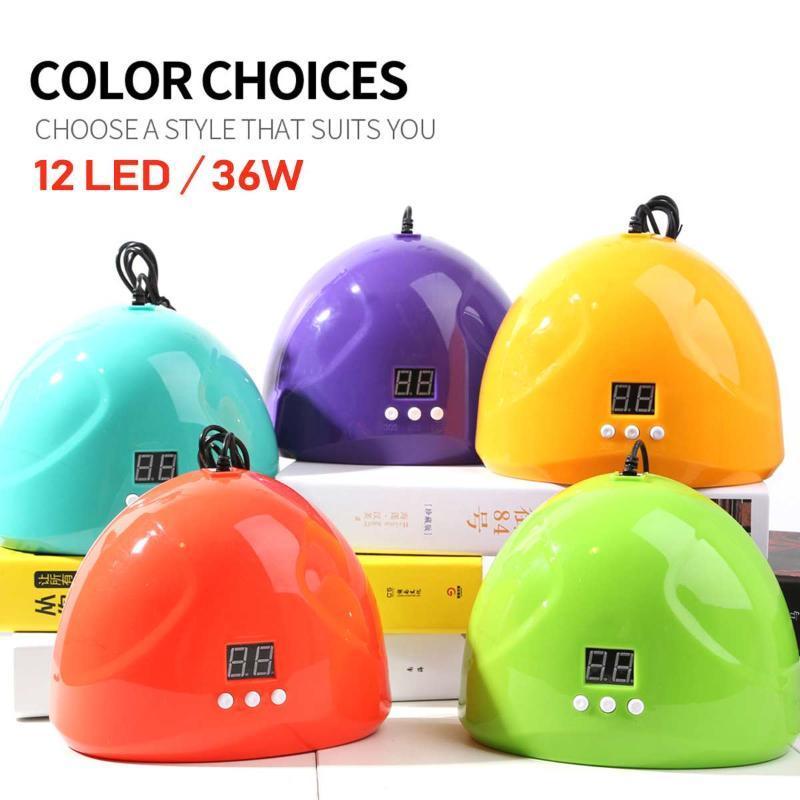 7 Colorful Nail LED USB Lamp 12 Pz lampada UV LED del chiodo del gel del manicure essiccamento polacco automatica del sensore Manicure Tools 36W