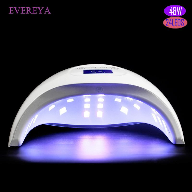 72W UV LED Lamp Nail Dryer SUN ONE 24 PCS LED Dual hands Nail Lamp For Curing UV Gel Polish With Sensor Timer LCD Display