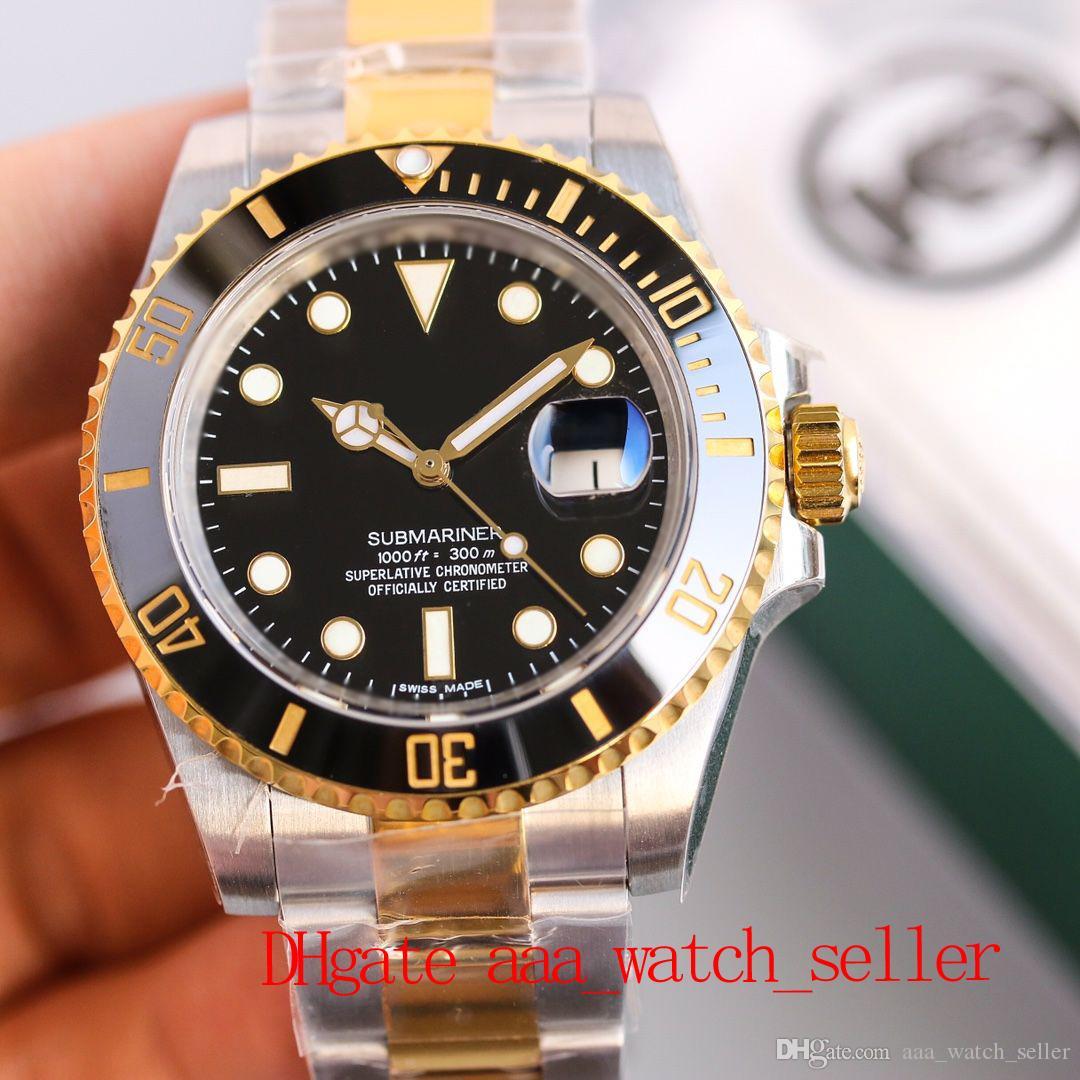 KS Master Fashion Watch 116613 Черный циферблат Ceramic Bezel 2836 Автоматическое механическое движение SS904L водонепроницаемый 50M роскошные спортивные наручные часы