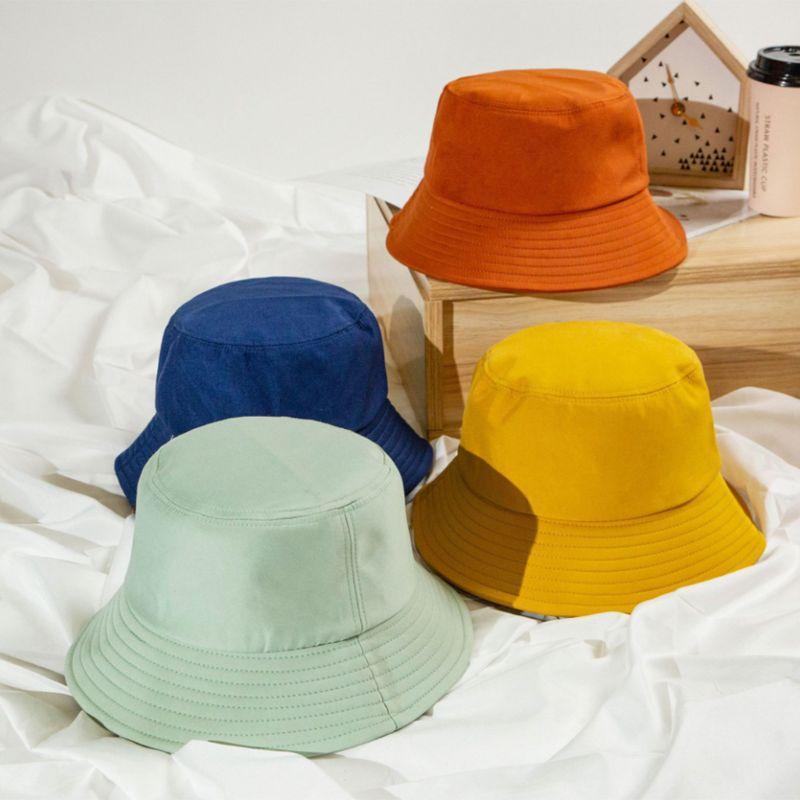 Корейский взрослых лета малышей Складная Bucket Hat Solid Color Hip Hop Широкий Брим Бич Защита от ультрафиолетовых лучей Round Top Солнцезащитный Fisherman Cap