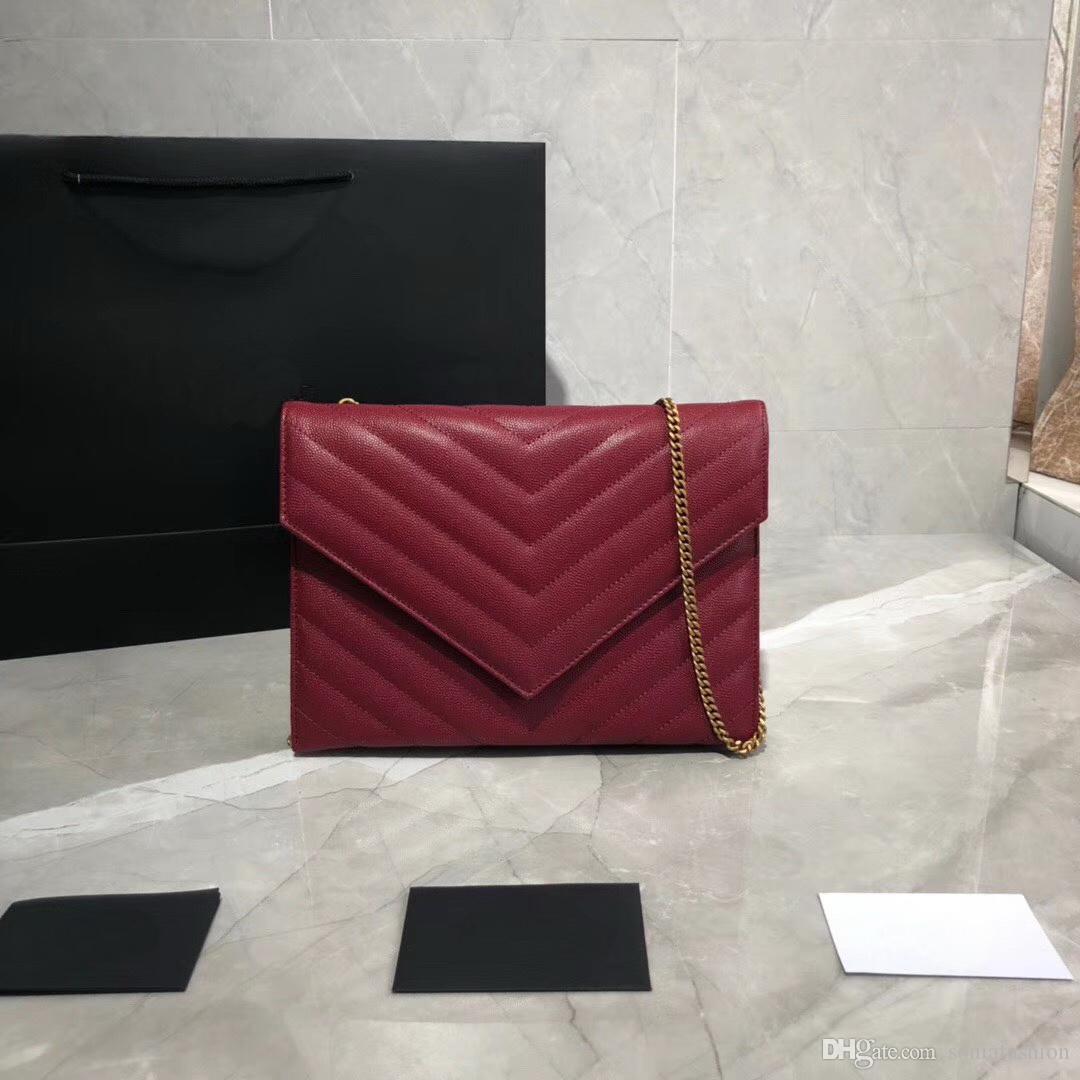 Nouveau sac en cuir véritable femme vente chaude designer chaîne double face utiliser lady cross body sac femme