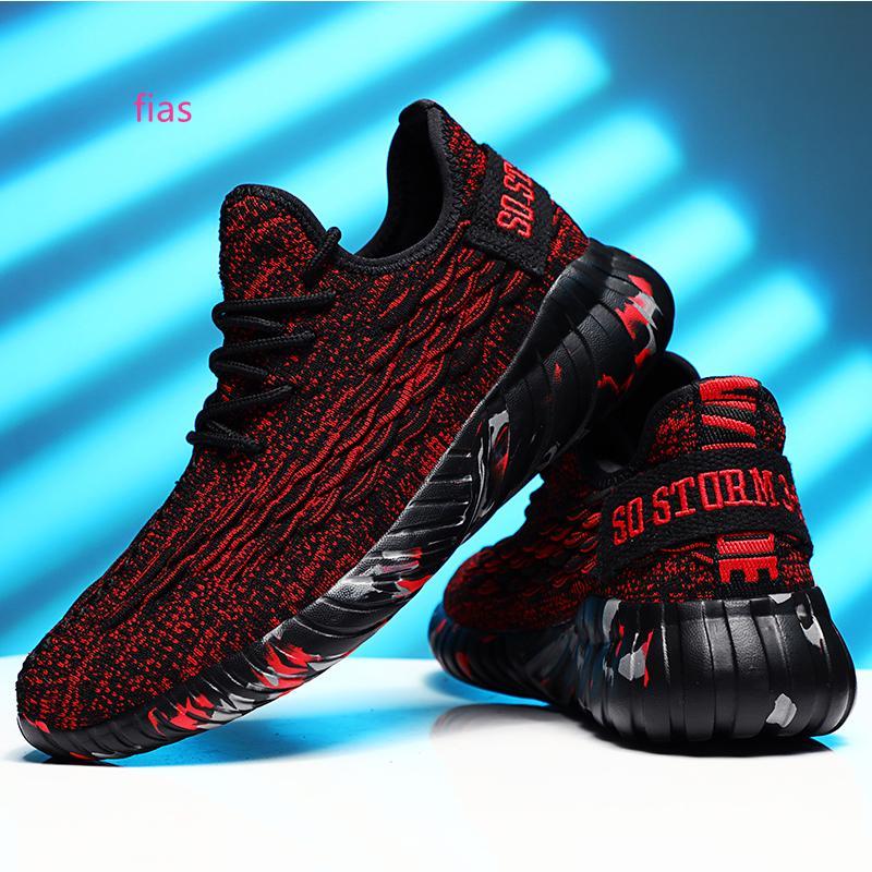 Più nuovi pattini da corsa per le donne degli uomini rosso scuro nero tessuto elastico morbido fondo mens formatori sport scarpe da ginnastica di marca fatta in casa Made in China