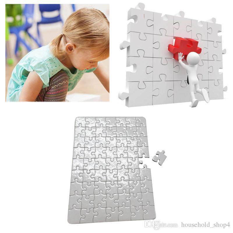 Isı Transfer Baskı Bulmaca Kağıtları A4 Boyutu Boş Yapboz Puzzle Kağıt Çocuklar Için DIY Termal Transfer Sedefli Vinil Malzeme