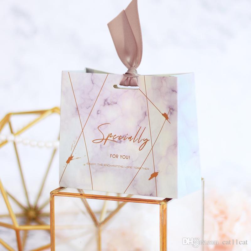 Cumpleaños Fiesta de bienvenida al bebé Cajas de regalo Caja de azúcar Suministros para fiestas Favores de boda Bolsa de dulces con cinta