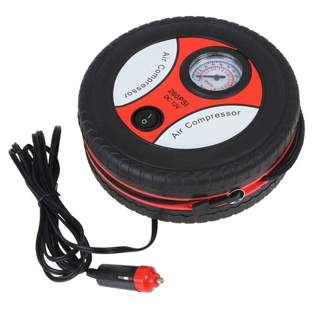 260 PSI Car Pump Tire Inflator Tyre Air Compressor Portable Automotive Tool black Car Mini Air Pump