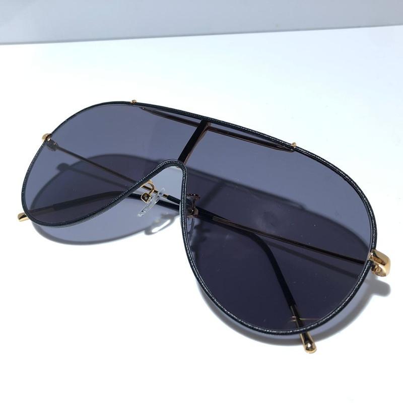 Con vengas gafas de sol para hombres óvalo 0671 protección de moda redondo protección de marco completo calidad superior funda popular UV Gafas de sol TJVWB
