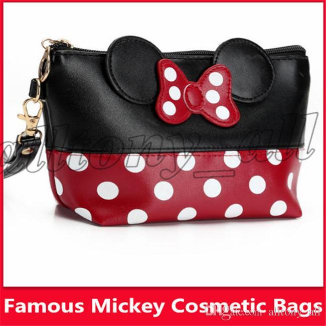Sacos cosméticos do tipo quente americano quente de Mickey da venda com 5 tipos de capacidade e de alta qualidade grandes
