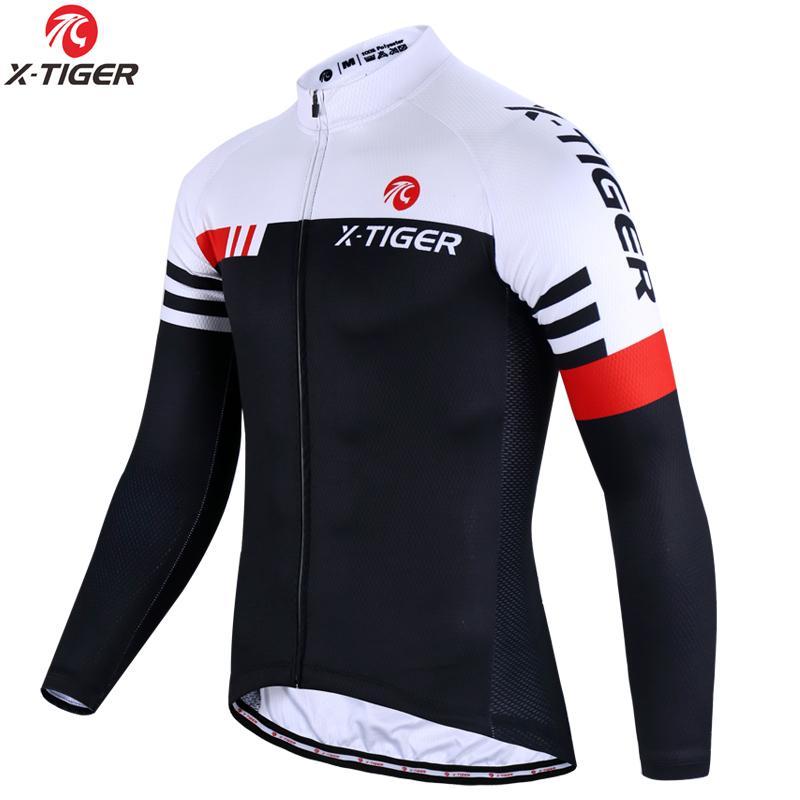 X-TIGER 최고 품질 사이클링 저지 긴 소매 MTB 자전거 자전거 의류 산악 자전거 스포츠 사이클링 의류