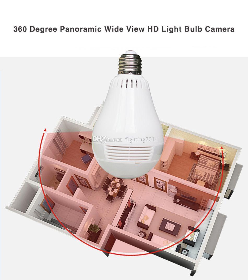 Wifi LED Light Camera HD 960P 1080P 360 Degree Bulb Video Surveillance IP camera Wireless Panoramic Home Security CCTV Fisheye camcorder