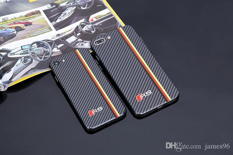 Углерод Audi Sline RS Крышка телефона для iPhone 6 6s 7 8 плюс X XR XS Max телефон случае для Samsung Галактика S8 s9 s10 плюс примечание 8 9 RS VW Sline логотип