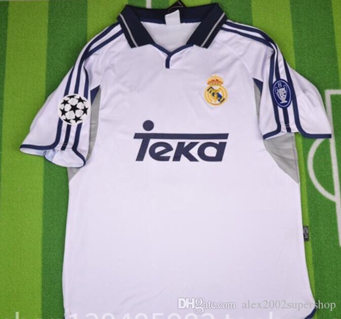 buy online 0173e 0afe5 2019 00 01 Real Madrid Retro Jerseys RAUL Shirts 2000 2001 FIGO RONALDO  Carlos Shirt From Alex2002supershop, $33.77 | DHgate.Com