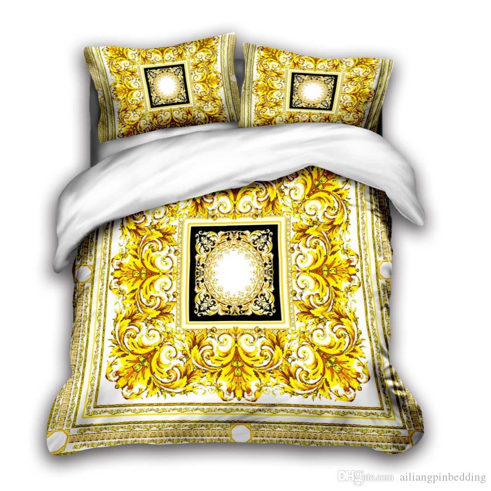 3D tasarımcı yatak kral lüks nevresim yastık kılıfı kraliçe nevresim tasarımcı yatak nevresim takımları Q1 setleri