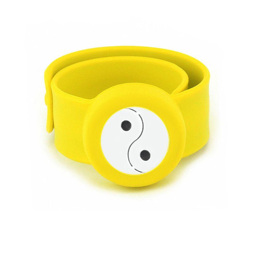 Taiji YinYang Charm Bracelet Kid Silicone Slap Bracelets Essential Oils Diffuser Wristband Anti-Mosquito Bracelets & Bangles For Kids