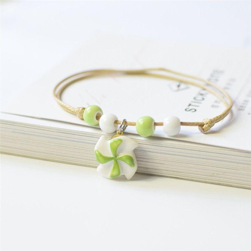 Designer Tortoise bracelet Ceramic Charm Bracelet Korean Creative Handwork style Couple Bracelet Ornament Jewelry Charm 09