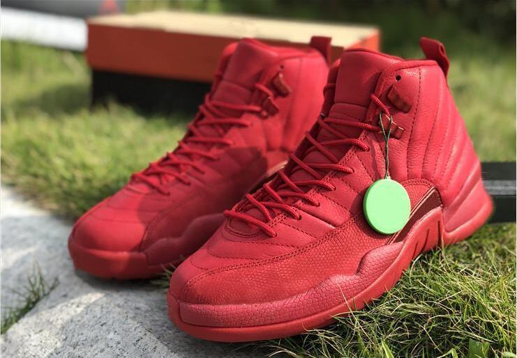 2020 Hot 12 Gimnasio Negro Rojo Baloncesto diseñador de zapatos de gamuza nuevo de la manera XII Bulls personalizada Deportes zapatillas de deporte de la buena calidad con la caja