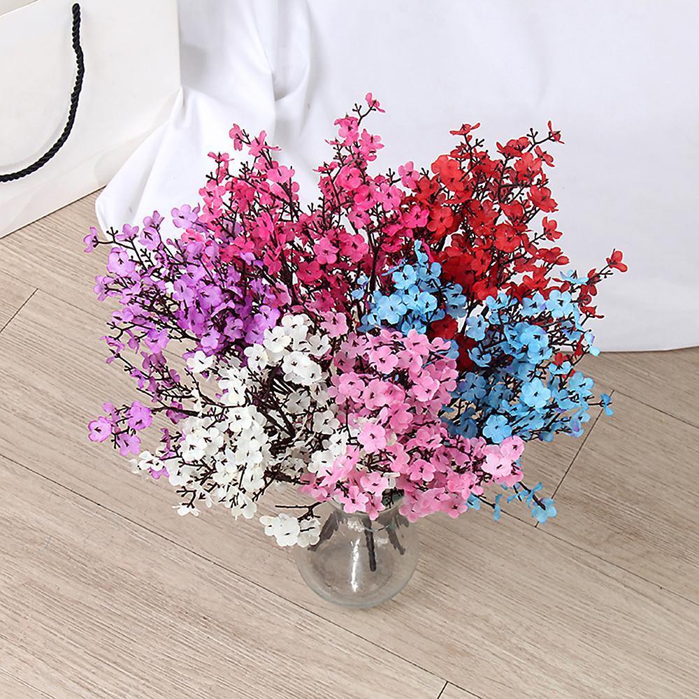 Künstliche Blumen-Baby-Atem Gypsophila Gefälschte Bouquets für DIY Hochzeit Dekoration Startseite Blumenstrauß Faux Blumen Niederlassung Pet Supplies