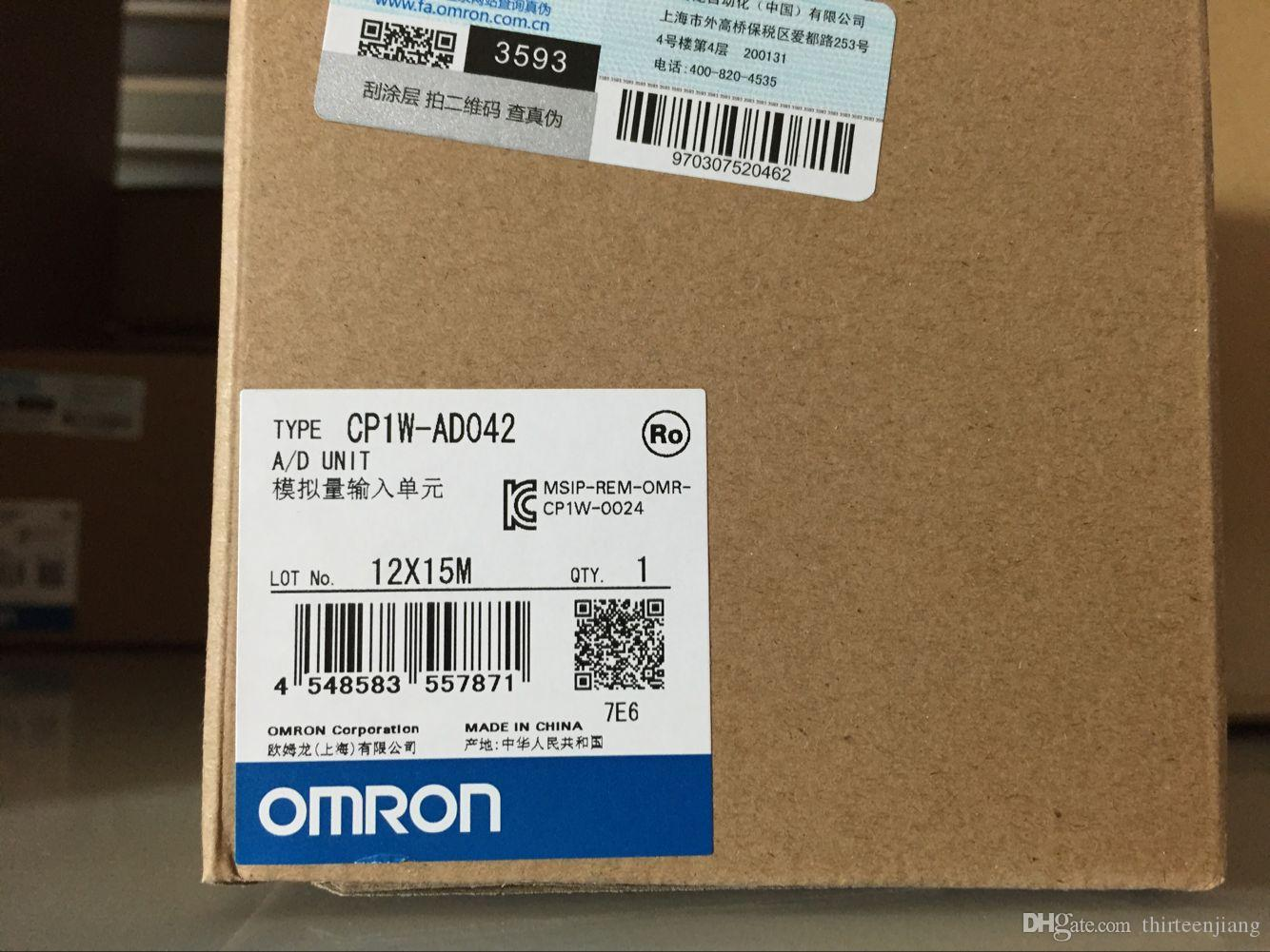 OMRON PLC CP1W-AD042 FRETE GRÁTIS EXPEDIDA CP1WAD042 NOVO NA CAIXA