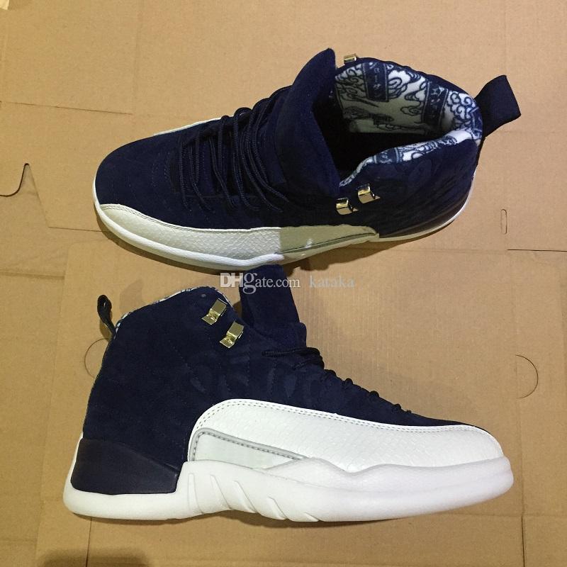 2019 Jumpman 12 международный рейс 12S Токио Япония Человек Баскетбол обувь Fiber ретро кроссовки обувь