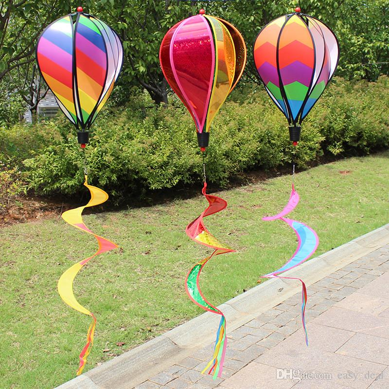 منطاد الهواء الساخن كم الريح الديكور خارج ساحة حديقة الحزب الحدث الديكور DIY اللون الرياح المغازل YQ00671