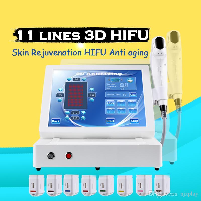 Hifu 3d macchina a ultrasuoni focalizzata rimozione delle rughe del viso che dimagrisce corpo 11 linee cartucce con macchina di bellezza hifu