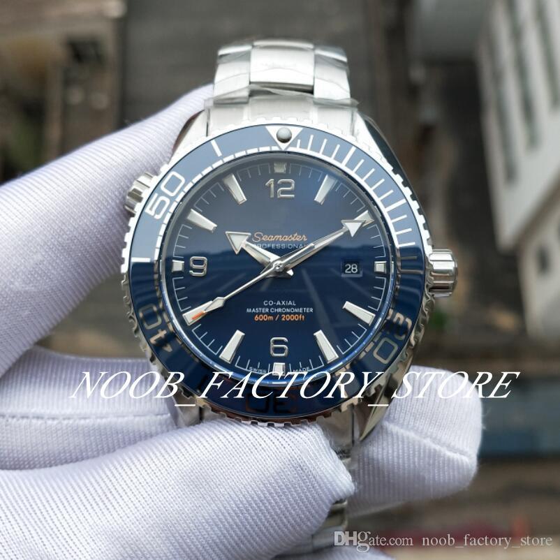 حركة مصنع جديد التلقائية ووتش الأزرق Cal.8900 التقويم السيراميك المحيط الساعات الصلب كاملة الغوص 600M كوكب مضيئ 43.5MM Wristwatche