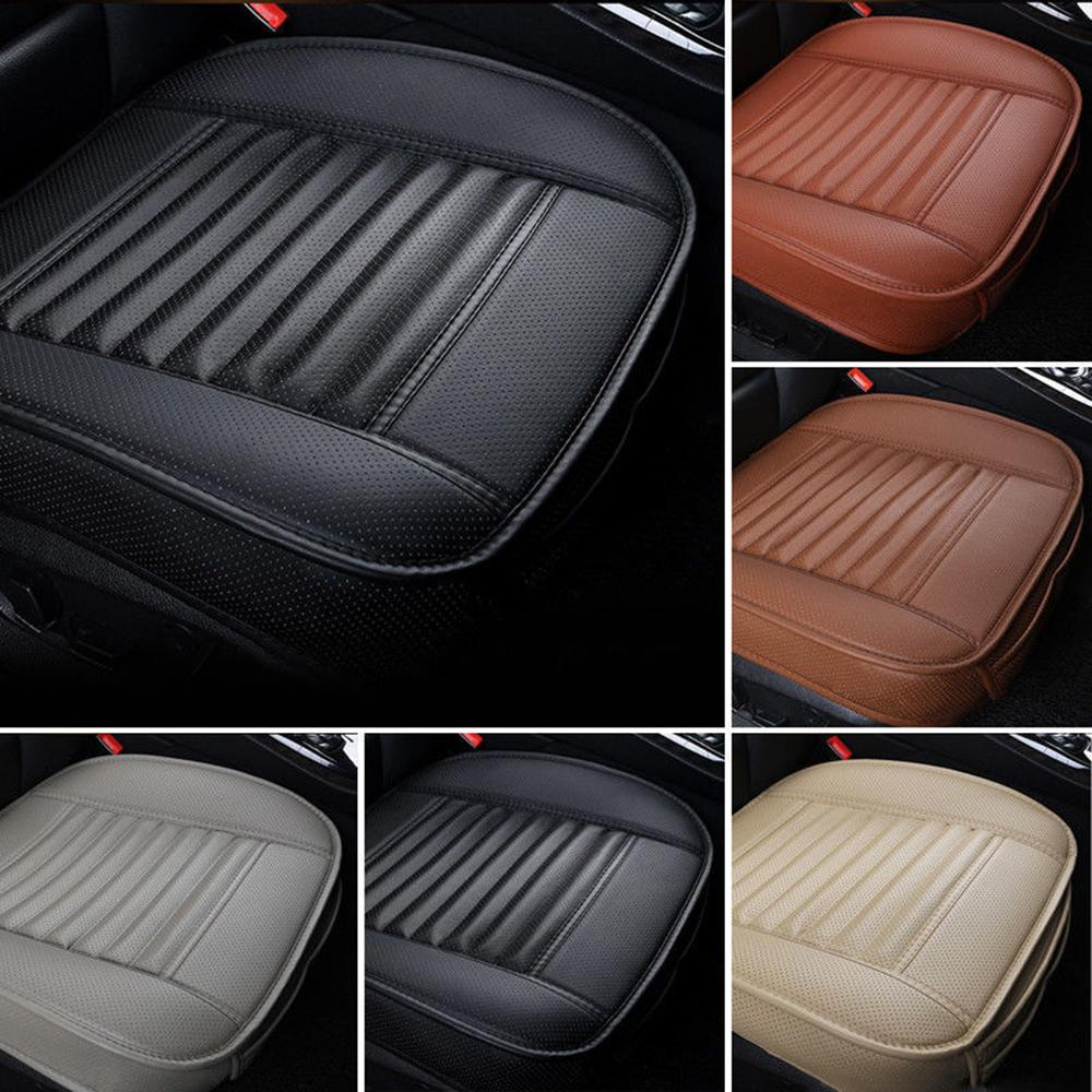 PU Leather Car Front Seat Cover Four Seasons Anti Slip Mat Car Single Seat Cushion Cover Universal Auto Chair Pad Styling