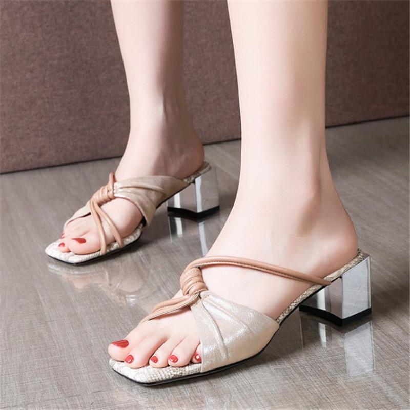PXELENA Schaffell Frauen Hausschuhe aus Echtem Leder 2020 Sommer Mode Outdoor Dias Dame Datum Kleid Täglichen Schuhe Plus Größe 34-42