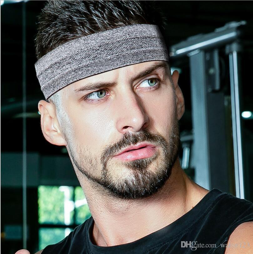 Nouveau Couleur Unie Unisexe Bandeaux Yoga Tête Cheveux Sports Courir Bandeau De Transpiration pour Hommes Femmes 7 Couleurs