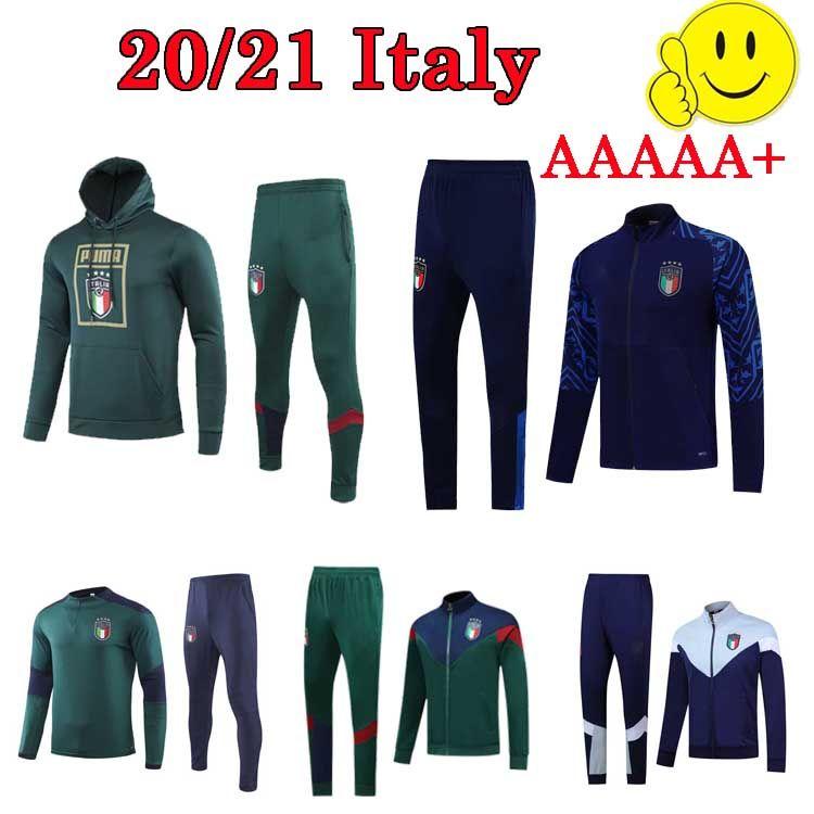 2020 Italien Fußball-Trainingsanzug 19 20 Nationalmannschaft ITALIAN INSIGNE Verratti GHIELLINI lange Hülse Fußballjacke Sweater Trainingsanzug