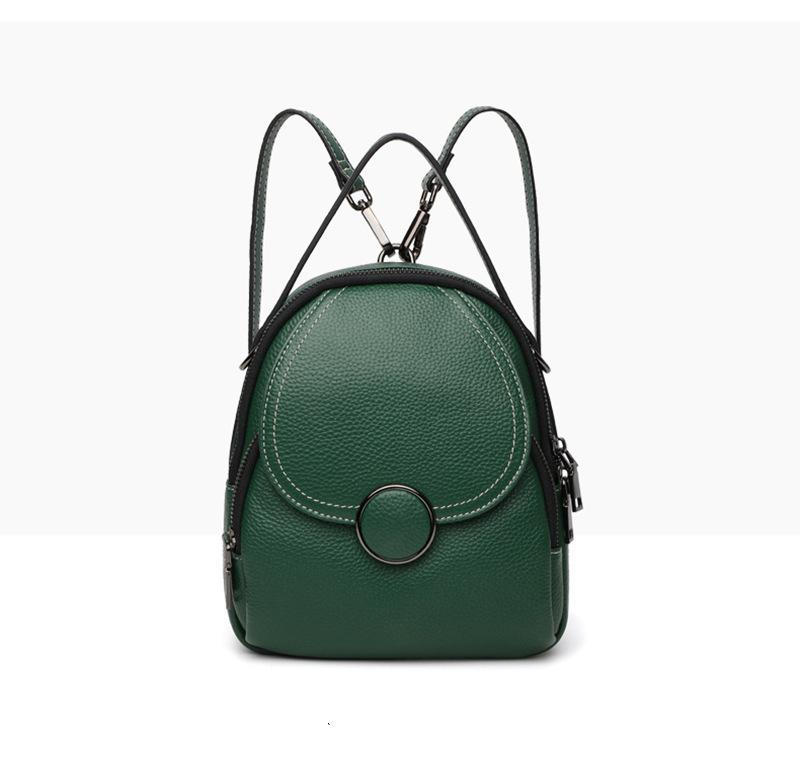 Pop2019 Leather Genuine Women's Backpack More Function Travel Woman Package Student A Bag Both Shoulders