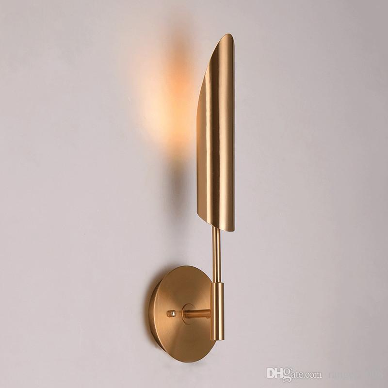 Nordic Luxury Iron Pipe Wall Lamps Modern Living Room Background Wall Sconce Lights Hotel Villa Bar Cafe Single Head Fixtures