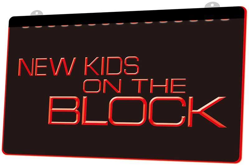 LS1464 0 Nkotb New Kids On The Block RGB Multiple Color Remote Control 3D Engraving LED Neon Light Sign Shop Bar Pub Club